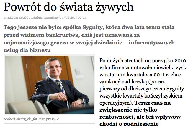 Norbert Biedrzycki - sygnity