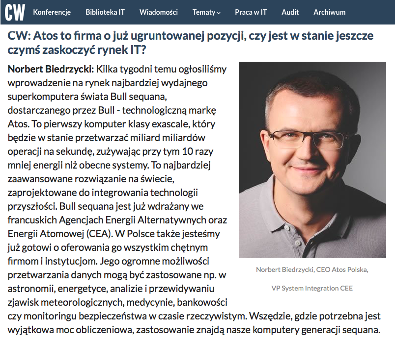 Norbert Biedrzycki wywiad ComputerWorld