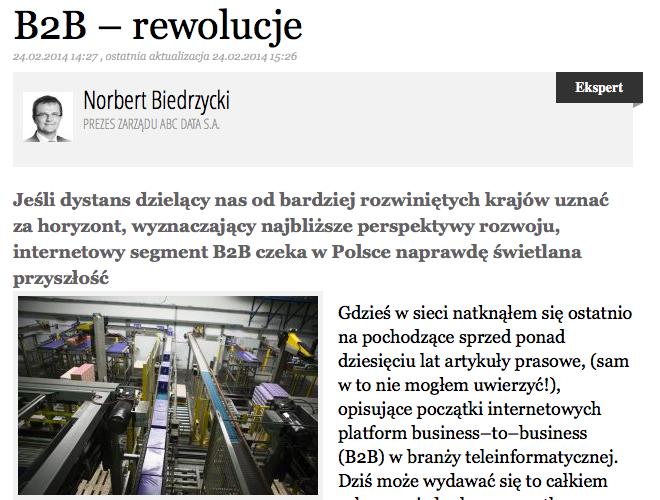 Norbert Biedrzycki - B2B rewolucje