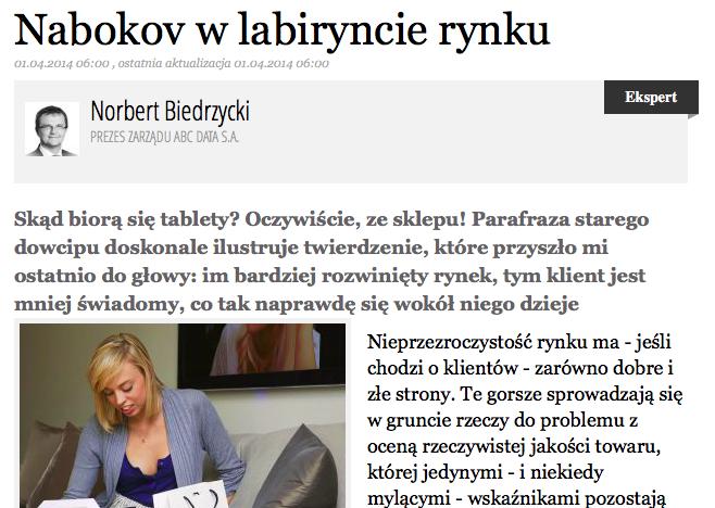 Norbert Biedrzycki - Nabokov w labiryncie rynku