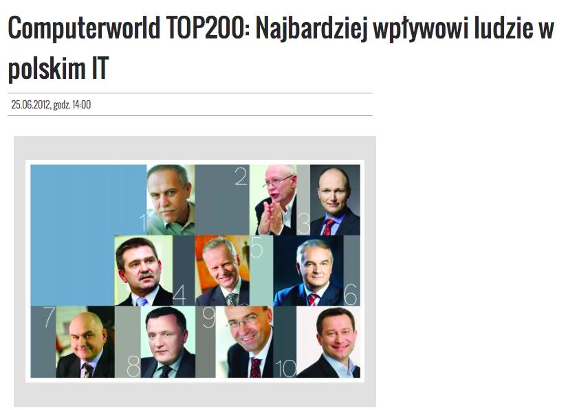 Computerworld TOP200 Najbardziej wpływowi ludzie w polskim IT