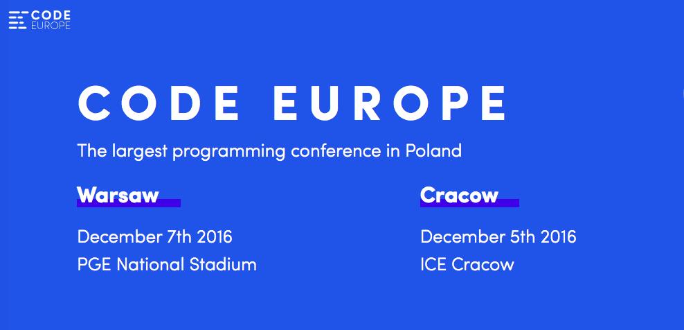 Code Europe Warsaw 2017