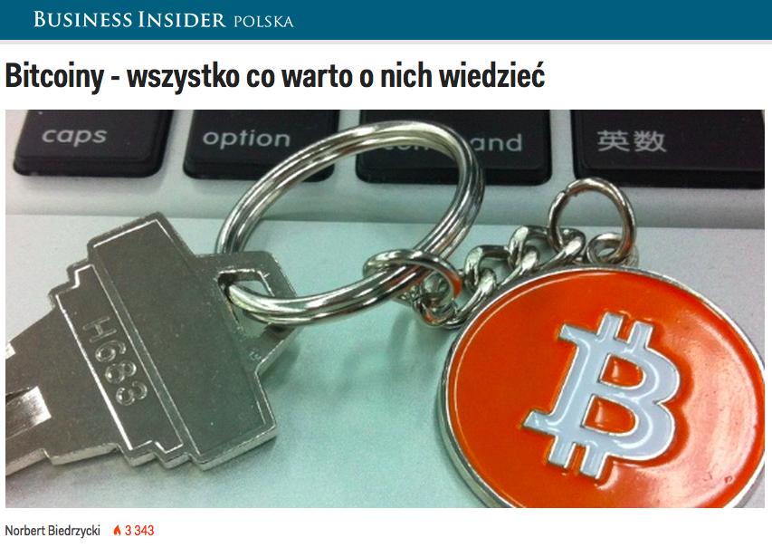 Norbert Biedrzycki Business Insider Bitcoins