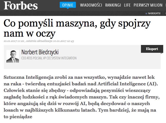 Norbert Biedrzycki Forbes Artificial Intelligence