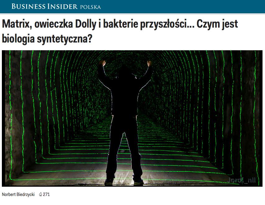 Norbert Biedrzycki Matrix Dolly bacteria of the future