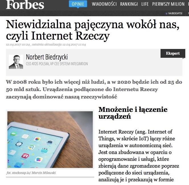 Norbert Biedrzycki Forbes IoT