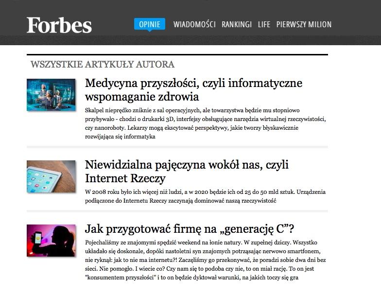 Norbert Biedrzycki Forbes Medycyna przyszlosci
