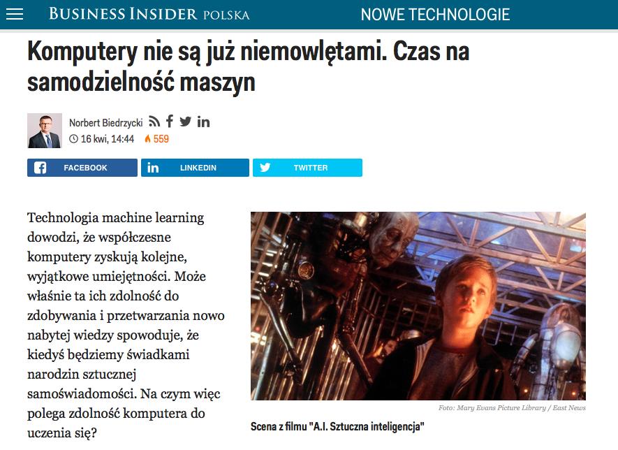Norbert Biedrzycki - Komputery nie sa już niemowlętami