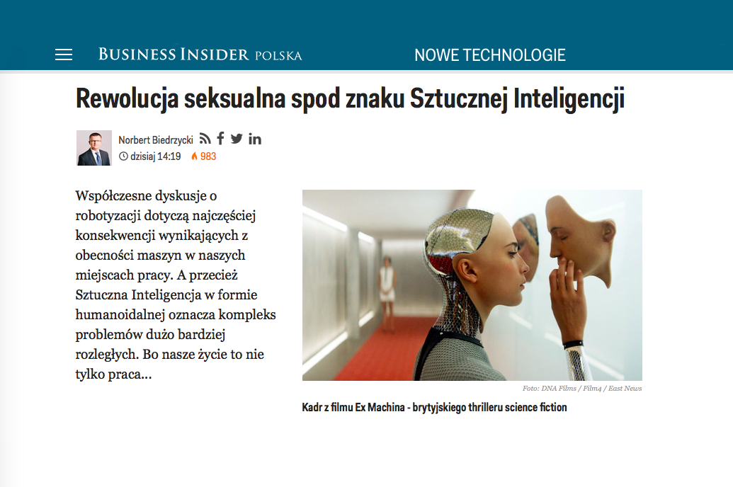 Norbert Biedrzycki Business Insider AI