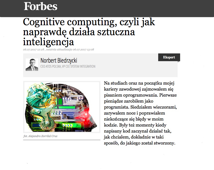 Norbert Biedrzycki FORBES Cognitive Computing