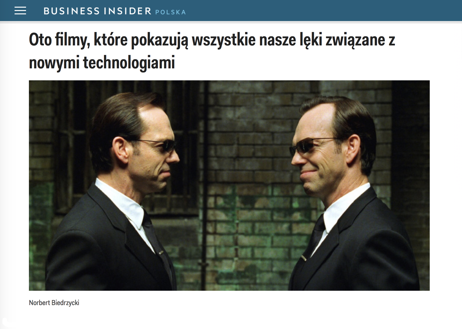 Norbert Biedrzycki Business Insider AI movies