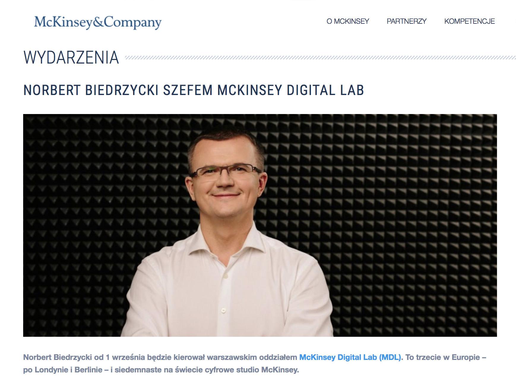 Norbert Biedrzycki Mckinsey VP