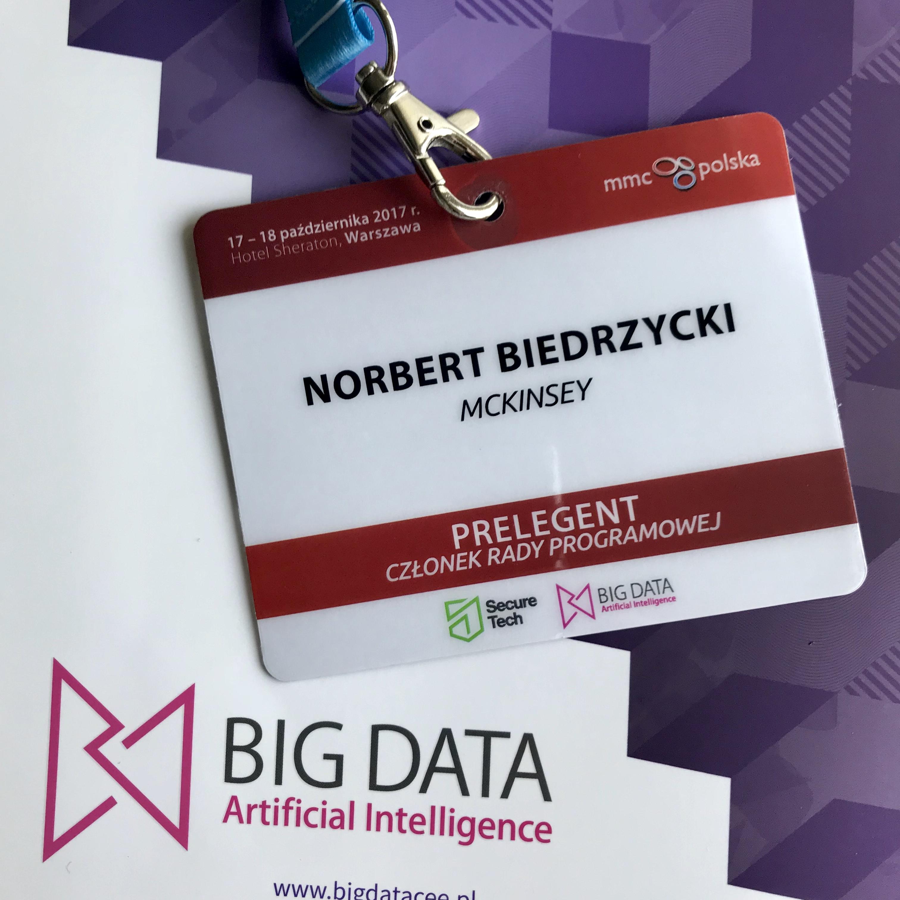 BigData AI conference Norbert Biedrzycki 2