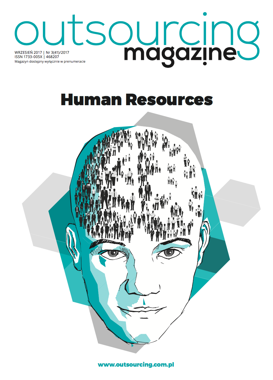 OutsourcingMagazine Blockchain Norbert Biedrzycki cover. blockchain may be a threat