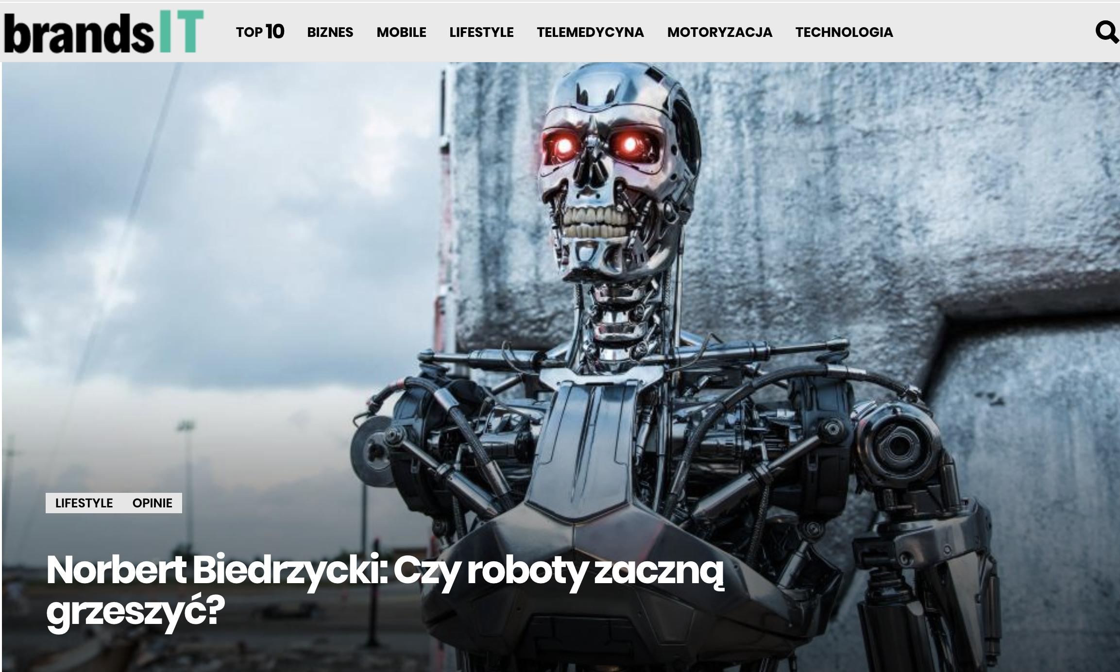 BrandsIT - Czy roboty zmienia swiat Norbert Biedrzycki