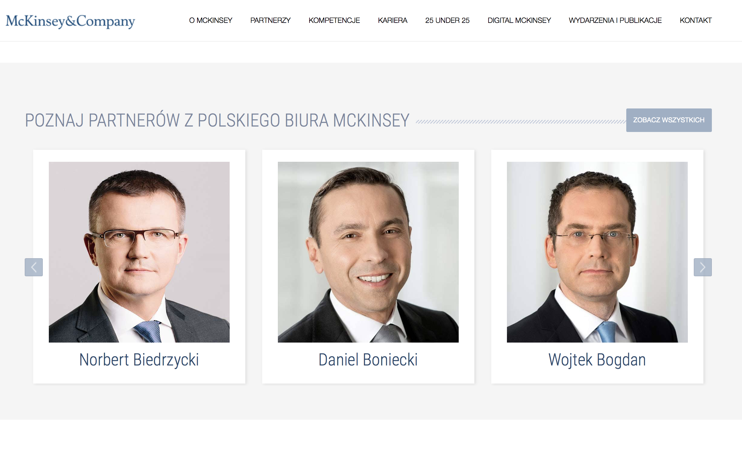 Norbert Biedrzycki McKinsey partners