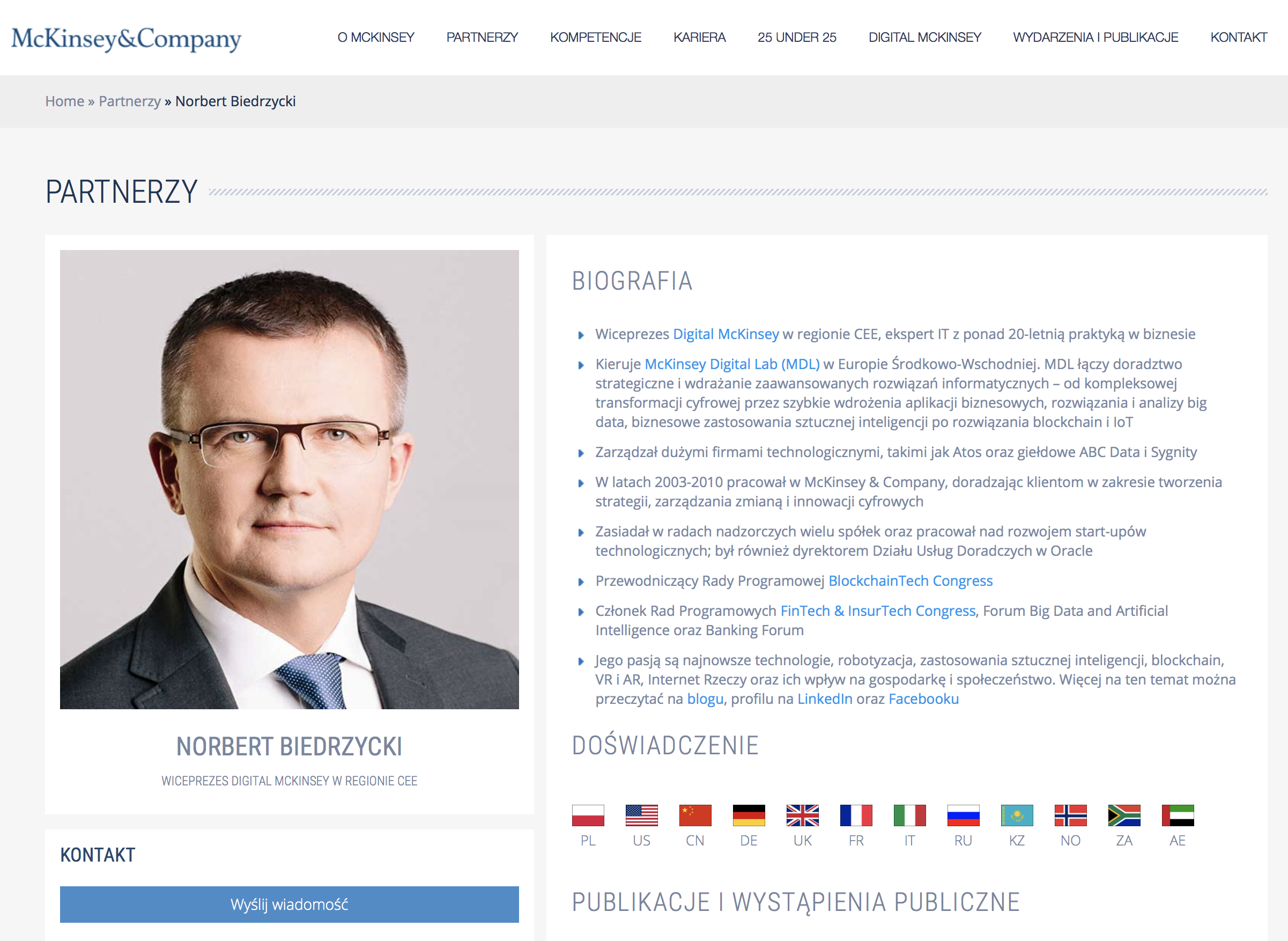 Norbert Biedrzycki McKinsey profile